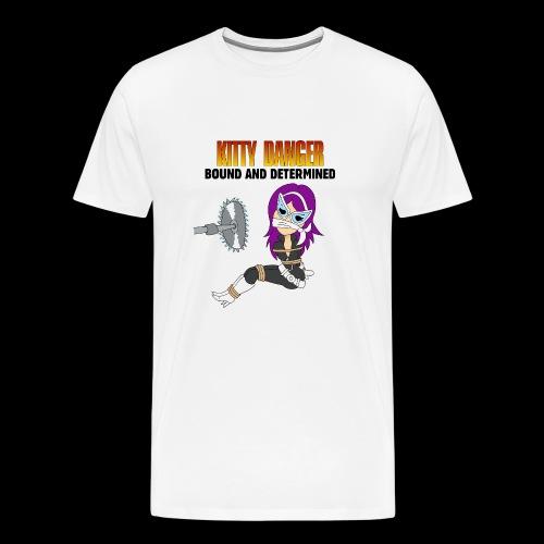 Kitty Danger Bound and Determined - Men's Premium T-Shirt