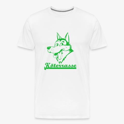 Köterrasse grün - Men's Premium T-Shirt