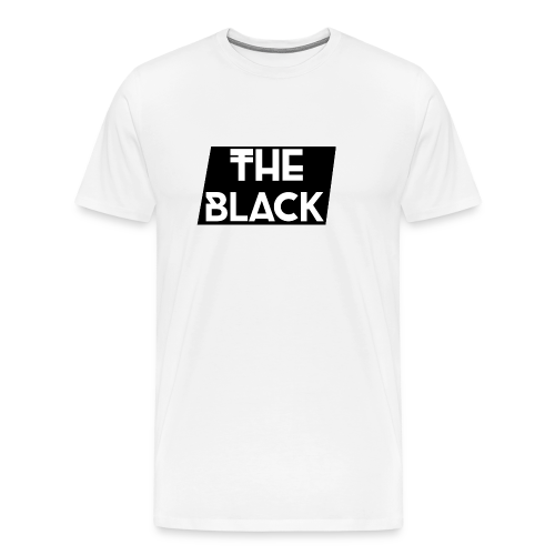 The Black Logo [Black Supreme Look] - Men's Premium T-Shirt