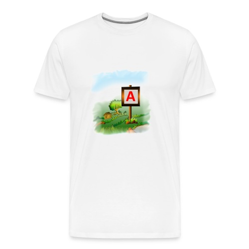 Super nature kids love letter A banner - Men's Premium T-Shirt