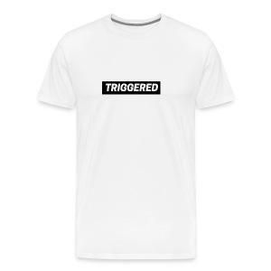 Black Triggered Logo on White T-Shirt - Men's Premium T-Shirt