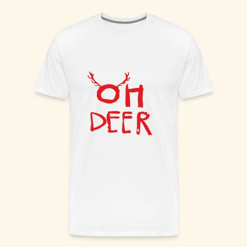 oh deer Christmas are coming . - Men's Premium T-Shirt