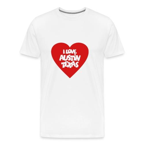 I love Austin Texas Heart - Men's Premium T-Shirt