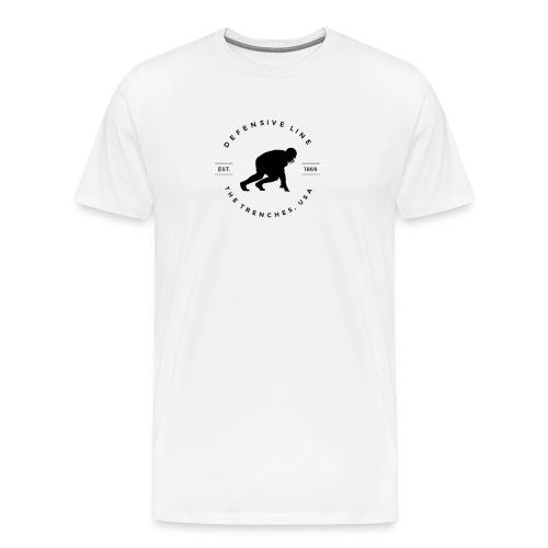 Defensive Line Tee - Men's Premium T-Shirt