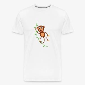 Funny Monkey Swinging On A Vine Merchandise - Men's Premium T-Shirt