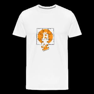 Bitcoin coin. Bitcoin logo t-shirt. Crypto Puzzle - Men's Premium T-Shirt