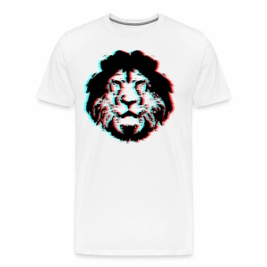 3D Lion Face - Men's Premium T-Shirt