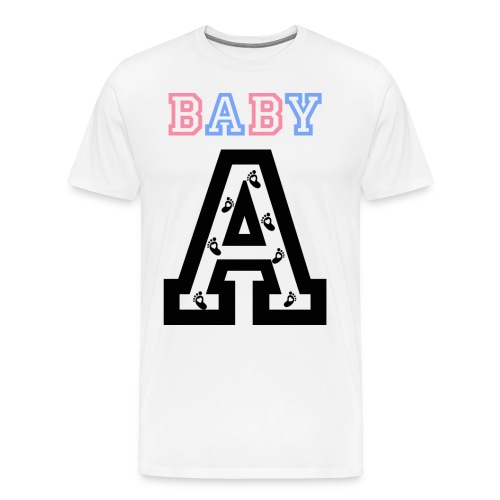 Twins - Baby gender reveal for baby A - Men's Premium T-Shirt