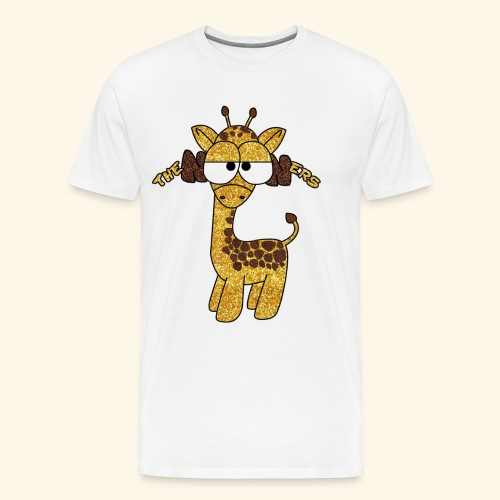 The Nooners Giraffe Design - Men's Premium T-Shirt