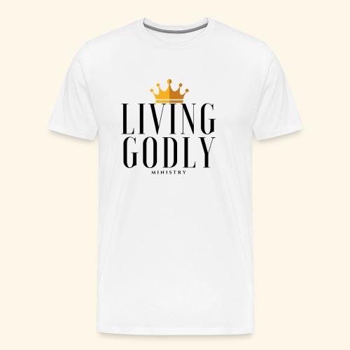 Living Godly Ministry Logo Tee - Men's Premium T-Shirt