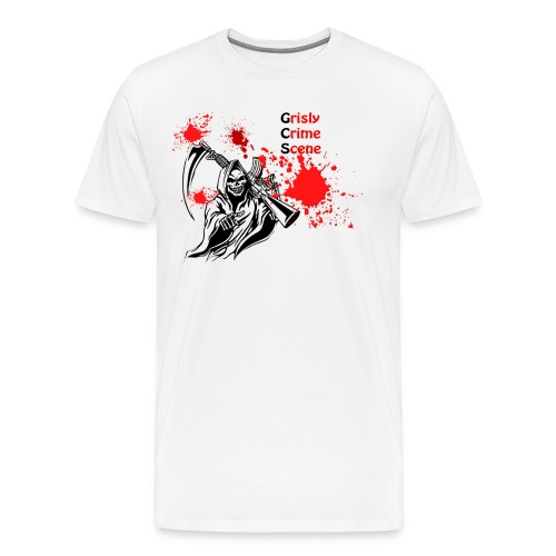 Grisly Crime Scene grim reaper - Men's Premium T-Shirt