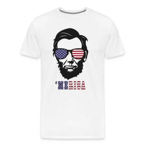 4th of july Abe lincoln t-shirts - Men's Premium T-Shirt