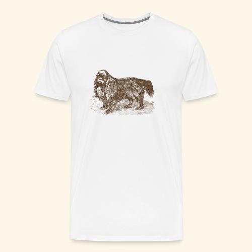Vintage King Charles spaniel - Men's Premium T-Shirt