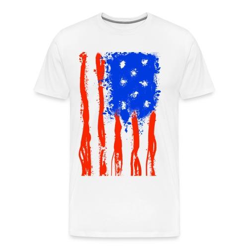US Flag Flowing Stripes - Men's Premium T-Shirt