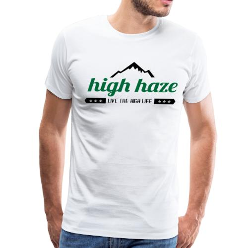 High Haze Logo (High Contrast) - Men's Premium T-Shirt