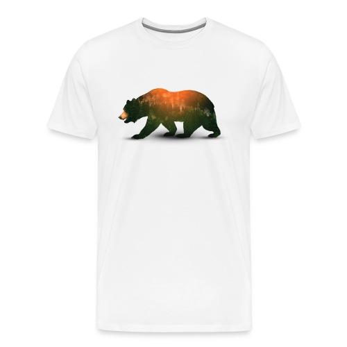 Bear in Forest Sunset - Men's Premium T-Shirt