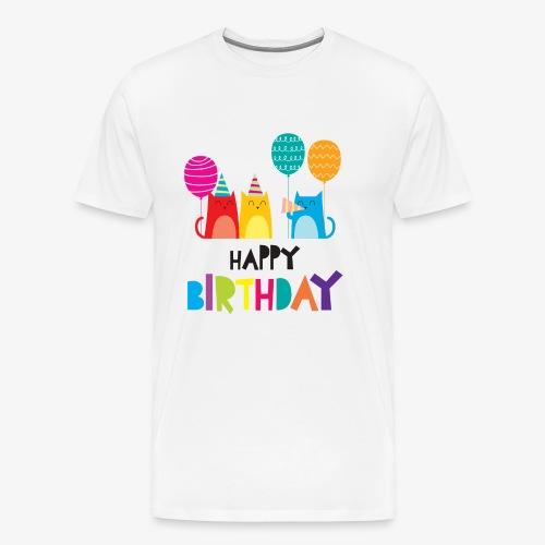 Cats & Happy Birthday - Men's Premium T-Shirt