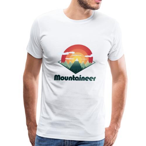 Mountaineer Mountain Sunset - Men's Premium T-Shirt