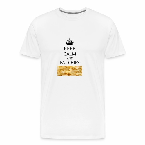 KEEP CALM AND EAT CHIPS MERCHANDISE - Men's Premium T-Shirt