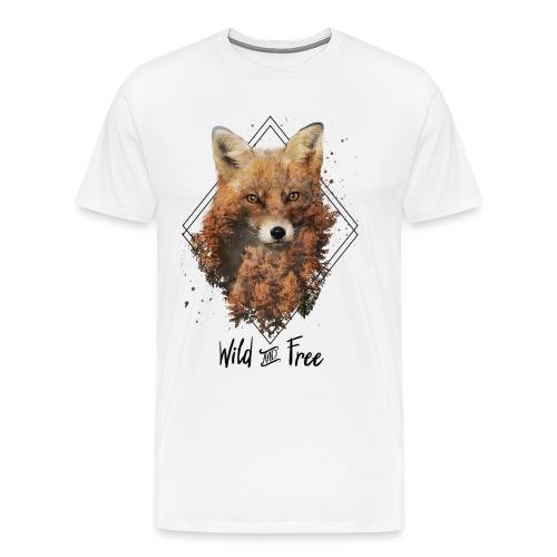 Wild & Free Fox - Men's Premium T-Shirt