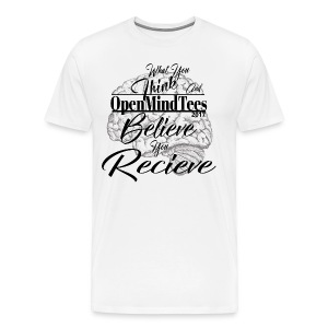 OpenMindTees logo Law Of Attraction Affirmation - Men's Premium T-Shirt