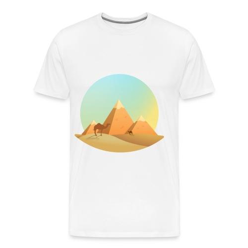 Pyramids & camel - Men's Premium T-Shirt