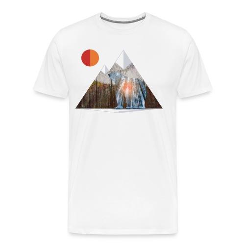Bear Sun Salute in Mountain Forest - Men's Premium T-Shirt