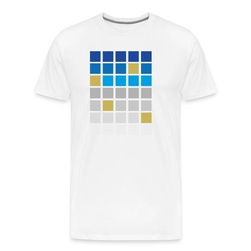 Futuristic Grid - Men's Premium T-Shirt