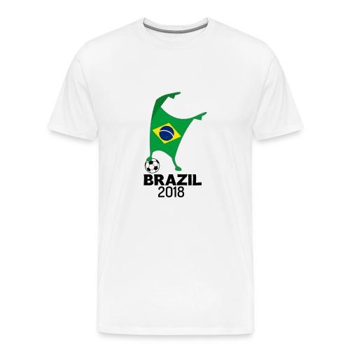 Brazil Flag 2018 Football Cup Soccer Dabbing World Jersey - Men's Premium T-Shirt