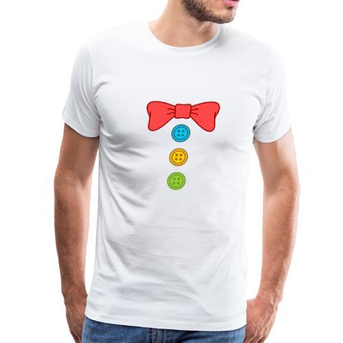 Clown Bow Tie and Buttons Costume Suit - Men's Premium T-Shirt