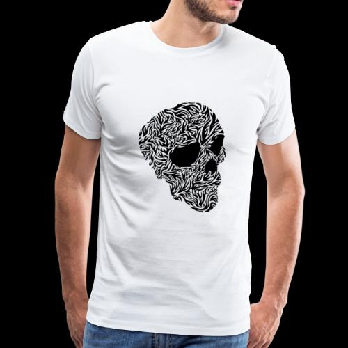 skull black and white - Men's Premium T-Shirt