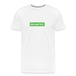 Delighted Logo on White T-Shirt - Men's Premium T-Shirt