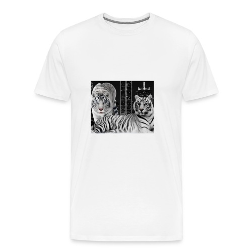 white tigers - Men's Premium T-Shirt