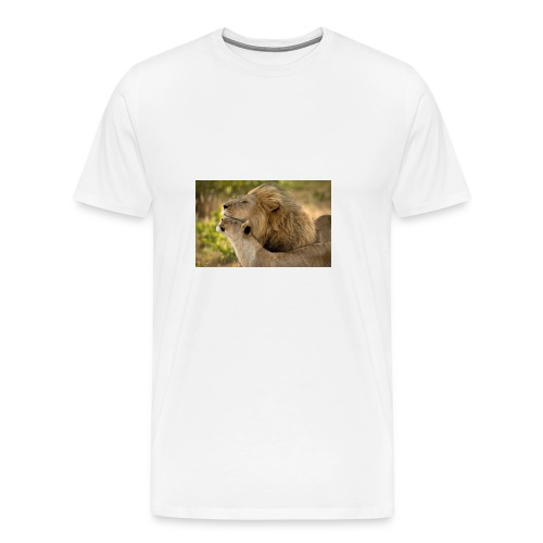 lions in love - Men's Premium T-Shirt