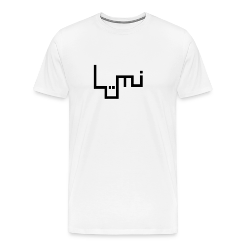 Lüminism logo, black - Men's Premium T-Shirt