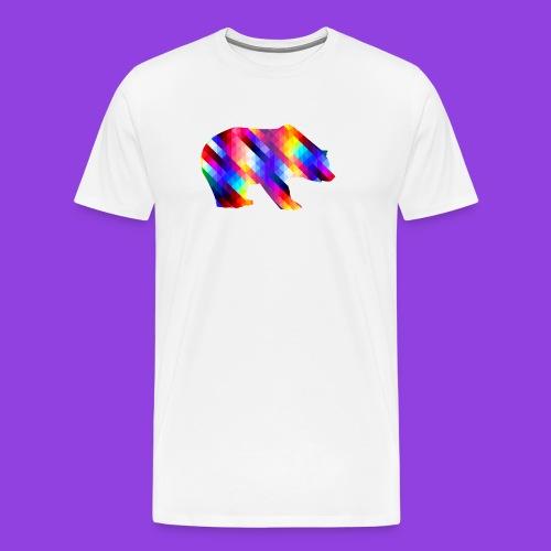 Bear Color Pattern - Men's Premium T-Shirt