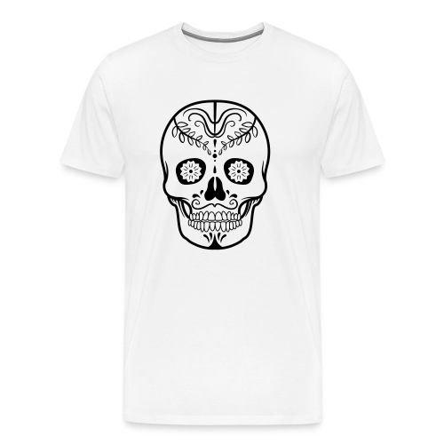 Colorful decorated skulls - Men's Premium T-Shirt