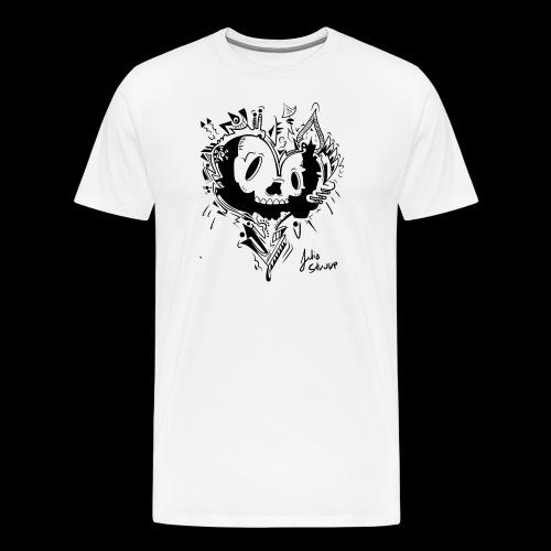 cubico skull - Men's Premium T-Shirt