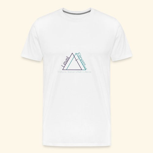 Level Fitness with Logo - Men's Premium T-Shirt
