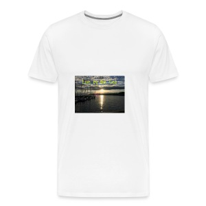 Live by the sea - Men's Premium T-Shirt