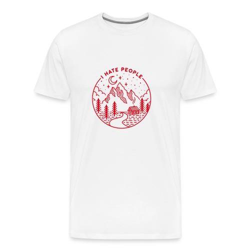 hate people merch - Men's Premium T-Shirt