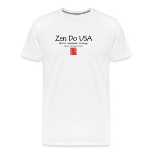 Zen Do USA logo and cell phone clothing busshist - Men's Premium T-Shirt