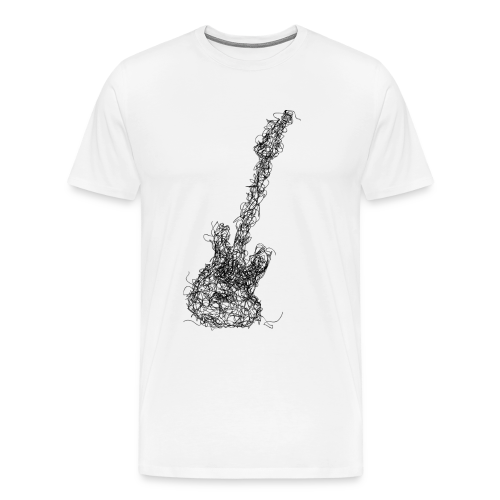 Guitar scribble - Men's Premium T-Shirt
