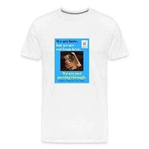 We are here POCC Pentecostals - Men's Premium T-Shirt