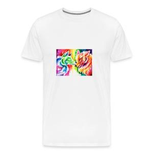 cute wolf - Men's Premium T-Shirt