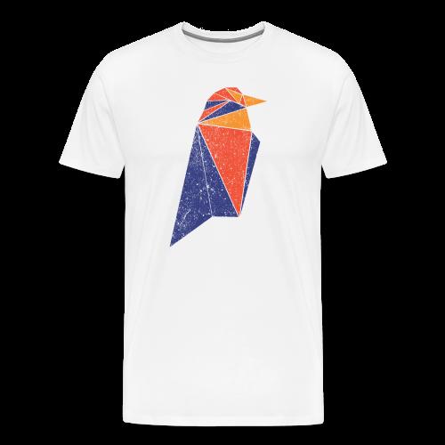 Ravencoin RVN Bird Logo (Worn Look) - Men's Premium T-Shirt