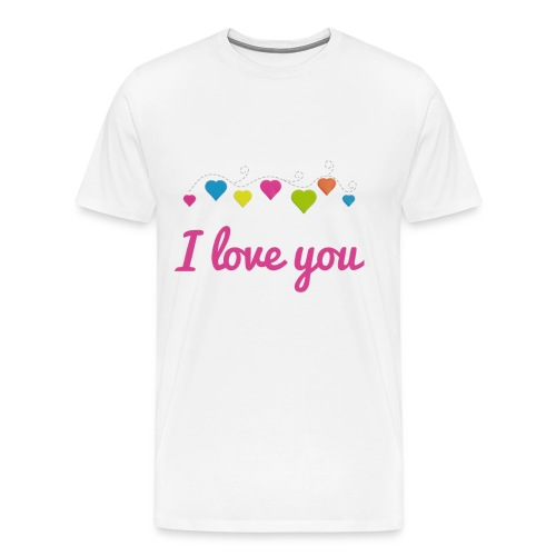 I Love You T-Shirt - Cool Gift T Shirt - Men's Premium T-Shirt