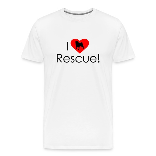 I Heart Rescue Pug - Men's Premium T-Shirt