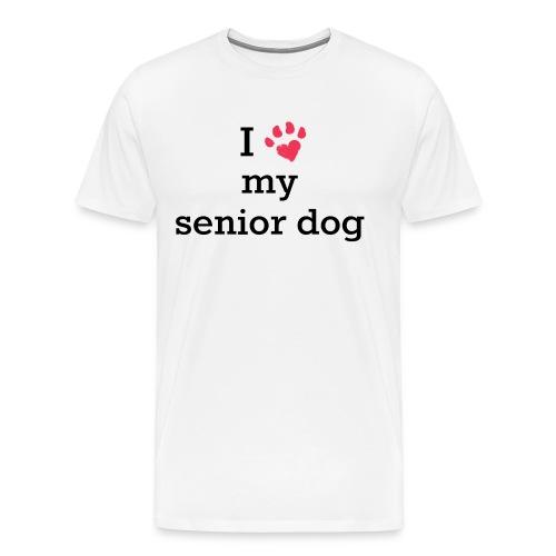 I love my senior dog - Men's Premium T-Shirt