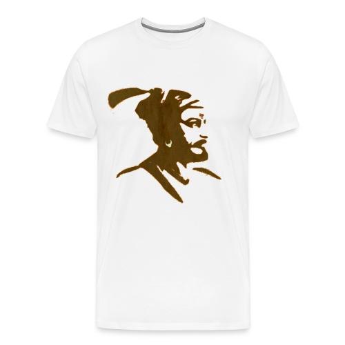 King Shivaji ART by HD Design - Men's Premium T-Shirt